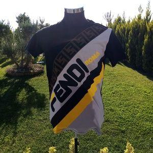 FENDI  new season trend men's t-shirt model